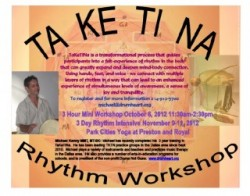 upcoming TaKeTiNa workshop Dallas
